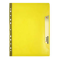 Файл-уголок А4, 200 мкм, желтый