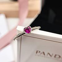 """Серебряное кольцо Pandora """"Сердце"""", фото 1"""
