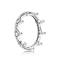 """Серебряное кольцо Pandora """"Корона"""" 197087CZ, фото 1"""