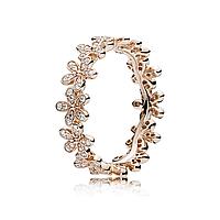 """Серебряное кольцо Pandora """"Венок из маргариток"""" 180934CZ, фото 1"""