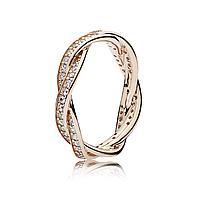 """Серебряное кольцо Pandora """"Повороты Судьбы"""" 180892CZ, фото 1"""