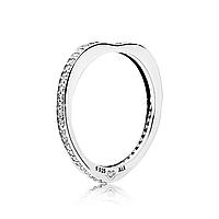 """Серебряное кольцо Pandora """"Сияющая радуга любви"""" 197095CZ, фото 1"""