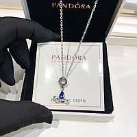 Серебряная цепочка с подвеской Pandora, фото 1