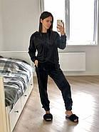 Чорний велюровий костюм штани і кофта Orli, фото 2