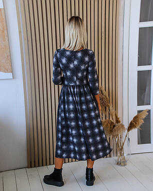 Платье миди клетка 04с41402, фото 2