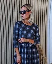 Платье миди клетка 04с41402, фото 3