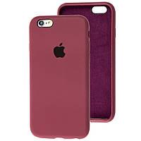 Чехол Silicone Case full для iPhone 6/6S Marsala