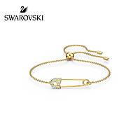 Серебряный браслет SWAROVSKI CRYSTAL SO COOL BRACELET PIN GOLD позолота 18 к, фото 1