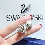 Серебряные серьги Swarovski Iconic Swan 5215037, фото 2