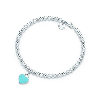 Срібний браслет Tiffany & Co м'ятна серце