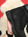Ботинки Timberland Black осень-зима, осенние ботинки тимберленд осінні черевики тімберленд зимние Timberland, фото 5