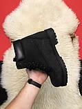 Ботинки Timberland Black осень-зима, осенние ботинки тимберленд осінні черевики тімберленд зимние Timberland, фото 3