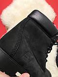 Ботинки Timberland Black осень-зима, осенние ботинки тимберленд осінні черевики тімберленд зимние Timberland, фото 6