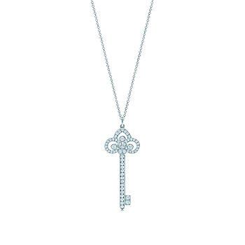 Срібна підвіска Fleur de Lis Key Tiffany & Co