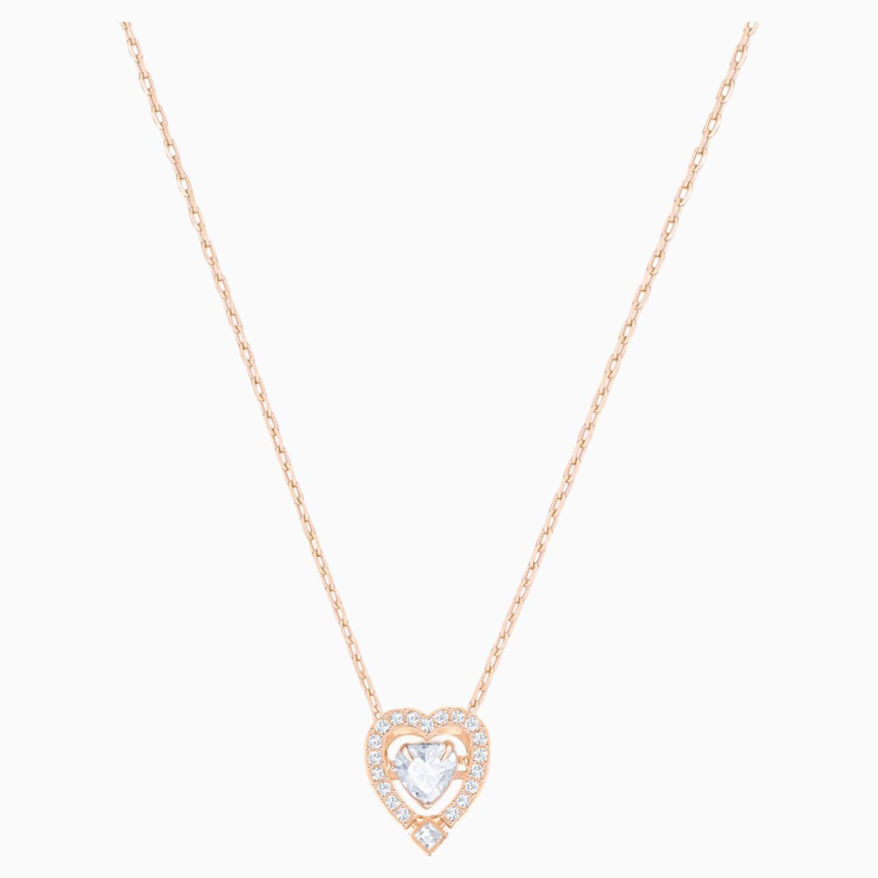 Серебряный кулон Swarovski Sparkling Dance Heart 5284188