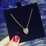 Серебряный кулон Swarovski Sparkling Dance Heart 5284188, фото 2