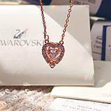 Серебряный кулон Swarovski Sparkling Dance Heart 5284188, фото 3