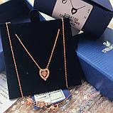 Серебряный кулон Swarovski Sparkling Dance Heart 5284188, фото 8