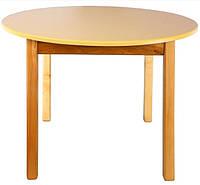 Детский деревянный стол с  круглой столешней, цвета Ваниль