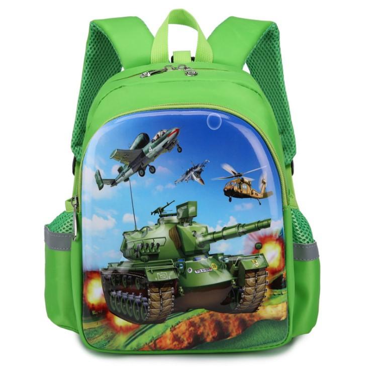 Детский рюкзак дошкольный для мальчика в садик Танки 3 4 5 лет зеленый