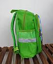 Детский рюкзак дошкольный для мальчика в садик Танки 3 4 5 лет зеленый, фото 3