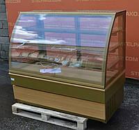 Холодильная кондитерская витрина «UNIS COOL Georgia III Gold 1500» 1.5 м., LED – подсветка, Б/у