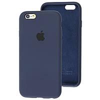 Чехол Silicone Case full для iPhone 6/6S Navy Blue