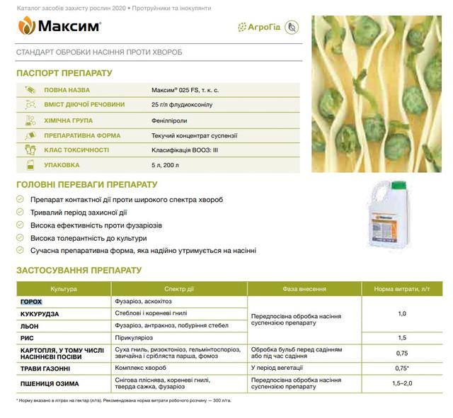Протруйник Максим 025 FS т.к.с. (100 мл), Syngenta