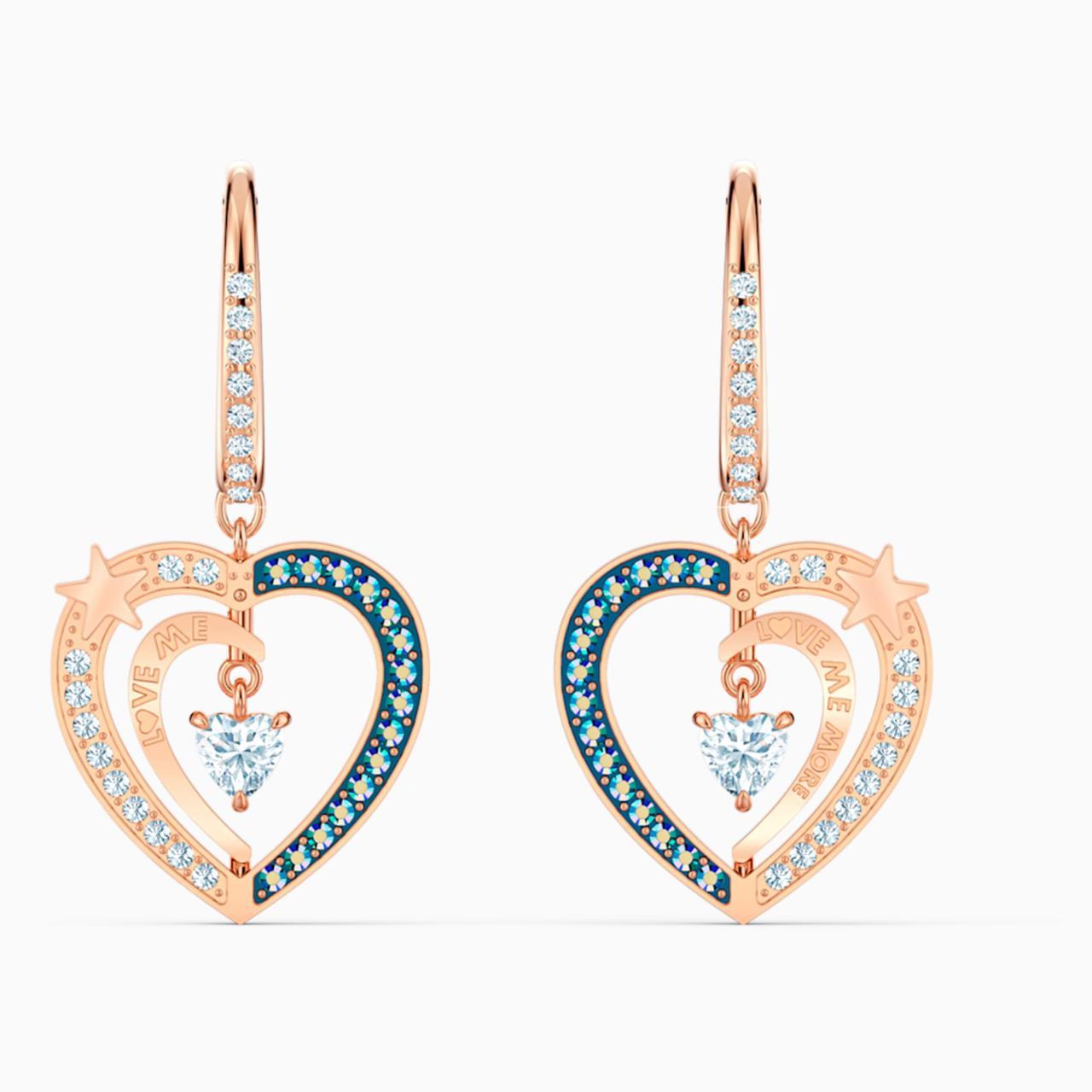 Срібні сережки Starry Night Swarovski 5484016
