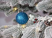 Новогодний шар голубой микс D 6см 12 шт (Ш_Гол_6)