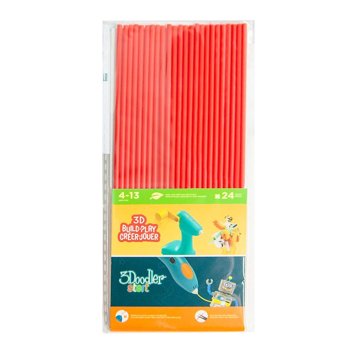 Набор стержней для 3D ручки 3Doodler Start (24шт, красные) 3DS-ECO03-RED-24