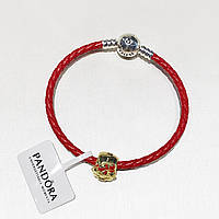 Серебряный комплект браслет + шармы Pandora, фото 1