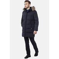Мужская зимняя длинная куртка с капюшоном