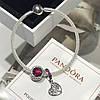 Серебряный комплект браслет + шармы Pandora