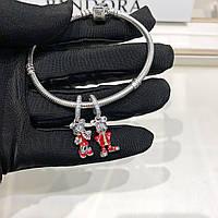 Серебряный набор Pandora Disney (браслет+шармы), фото 1