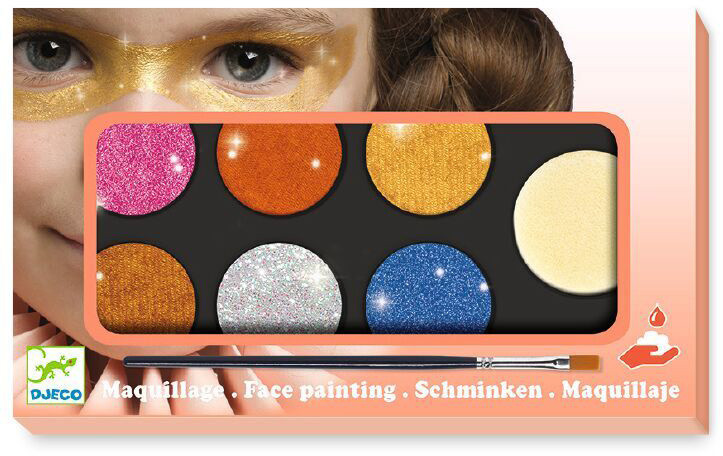 Грим для обличчя палітра 6 кольорів металік (DJ09232)