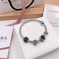Серебряный набор Pandora (браслет+шармы), фото 1