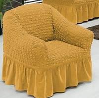 Чехол на кресло Arya Burumcuk светло-горчичный