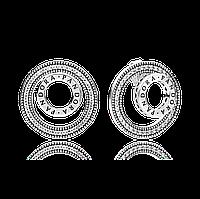 """Серебряные серьги-пусеты Pandora """"Навсегда"""" 297446CZ"""