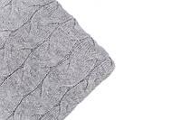 Вязаный плед Комильфо светло-серый 160х200 BDL-011, фото 1
