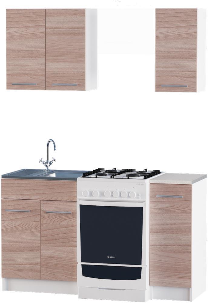 Кухня Эко №2 набор 0.9 м ЭВЕРЕСТ Белый + Шимо светлый, фото 2