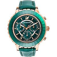 Часы Swarovski OCTEA LUX CHRONO зеленые розовые серые, фото 1