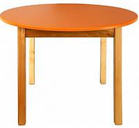 Детский стол круглой формы, оранжевый