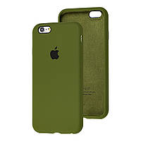 Чехол Silicone Case full для iPhone 6/6S Forest Green