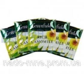 """Чай трав'яний пакетований Greenfield """"Rich Camomile"""" Ромашка велика 100шт HoReCa в поліетиленовому пакеті"""