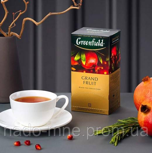 Чай Greenfield Grand fruit - Черный с гранатом и ростительными компонентами, 25 шт