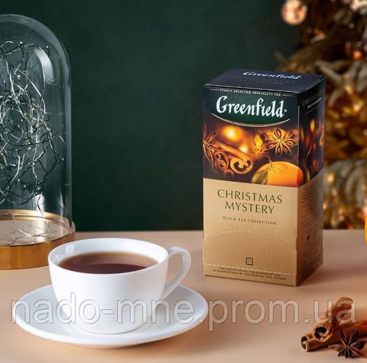 Чай Greenfield Christmas Mystery - Корица, пряности и цитрусы, 25 шт
