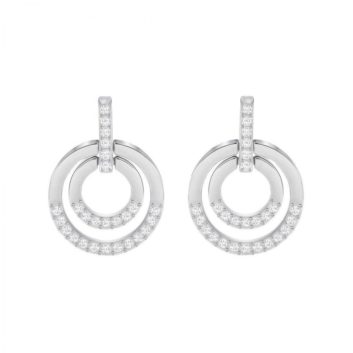 Серебряные cерьги Swarovski Circle 5349203