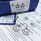 Серебряные cерьги Swarovski Circle 5349203, фото 4