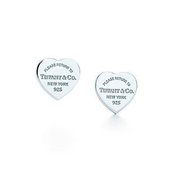 Срібні сережки Mini Heart Tiffany & Co